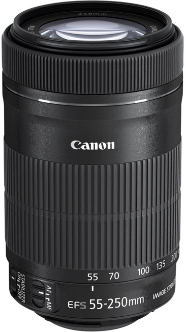 Canon EF-S 55-250mm 4-5.6 IS STM (черный)