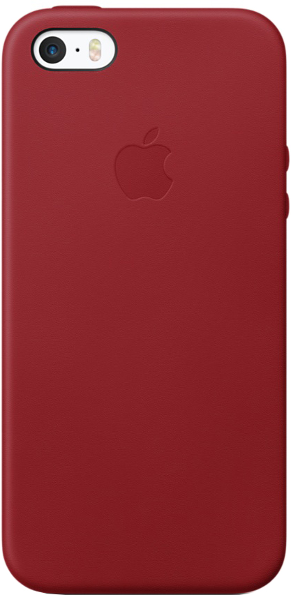 Клип-кейс Apple Leather Case для iPhone SE/5/5S (красный)