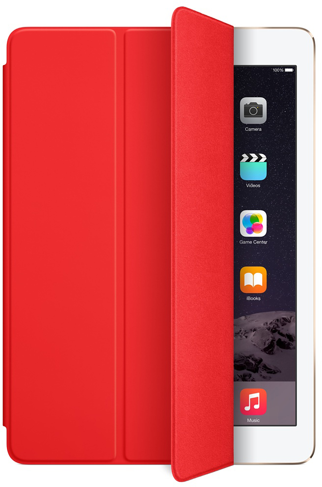 Обложка Apple Smart Cover для iPad Air/ iPad Air 2 (красный)