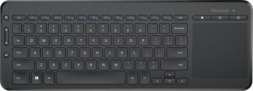 Microsoft All-in-One Media Keyboard + ivi (черный)