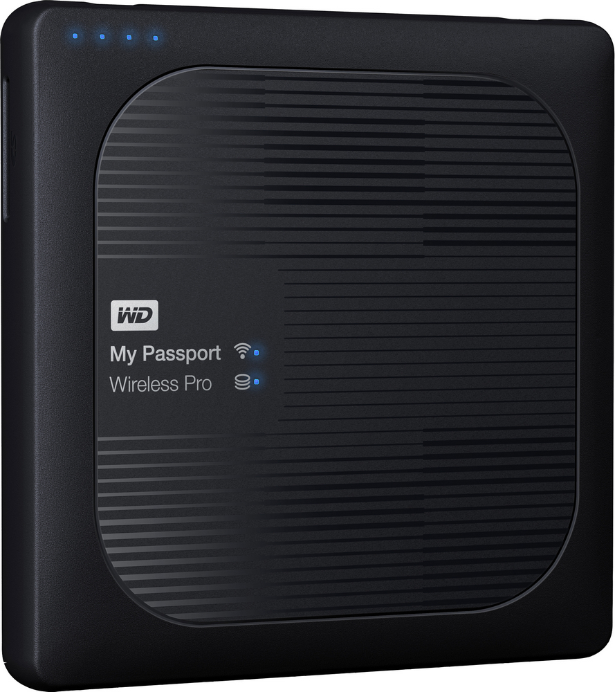 WD My Passport Wireless Pro USB 3.0 4Tb (черный) wd se 4tb 3 5