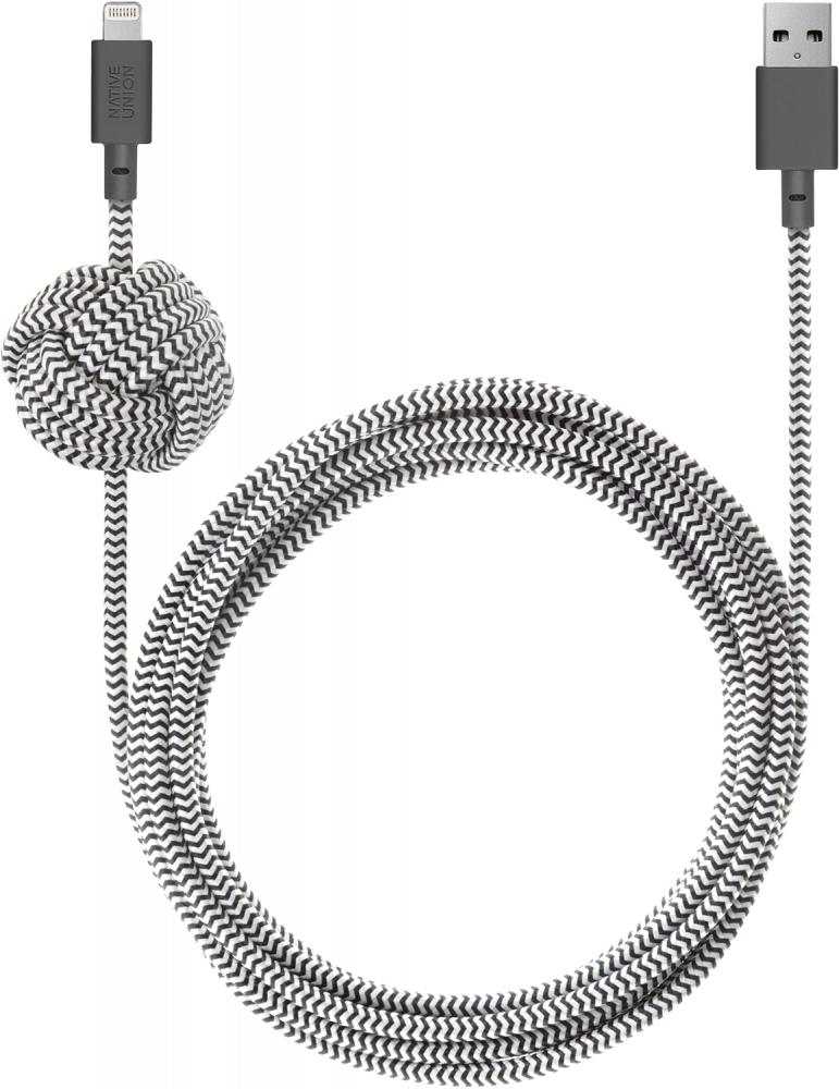Native Union Night Cable Apple 8pin 3м (зебра) кабель native union night cable apple 8pin 3м зебра