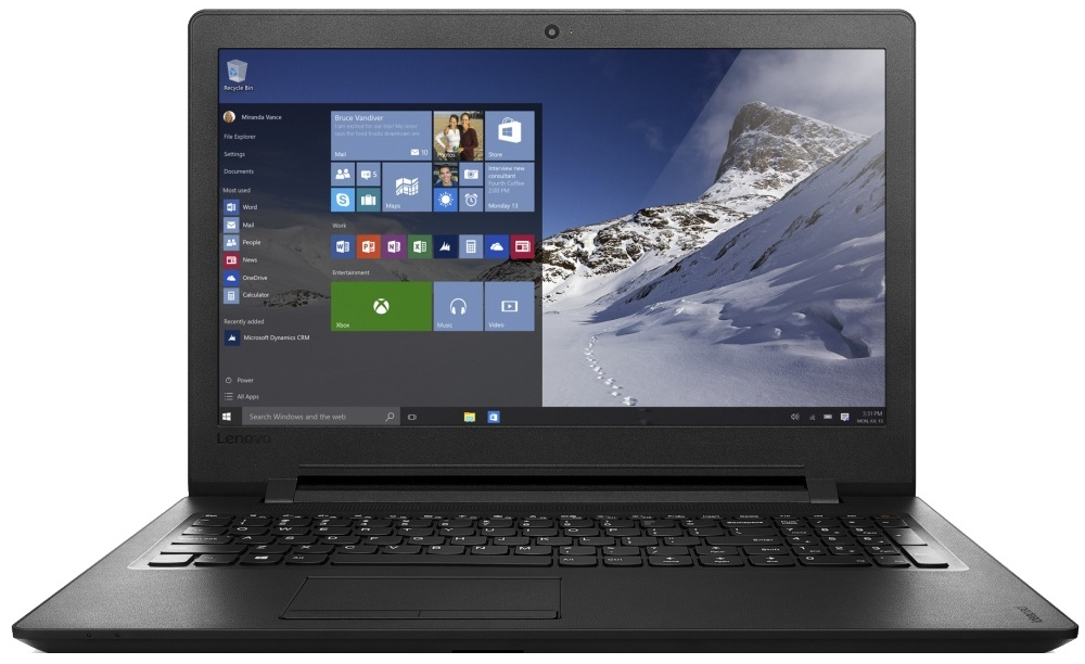 "Ноутбук Lenovo IdeaPad 110-15IBR (80T70047RK) (Intel Pentium N3710 1600 Mhz/15.6""/1366x768/4096Mb/1000Gb HDD/DVD-RW/Intel® HD Graphics 405/WIFI/Windows 10 Home)"