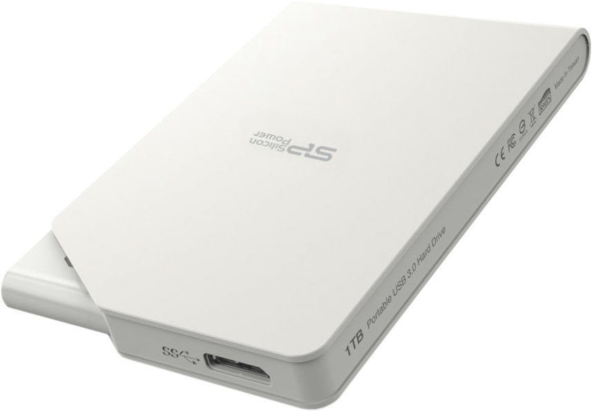 цена Silicon Power S03 Stream USB 3.0 1Tb (белый)