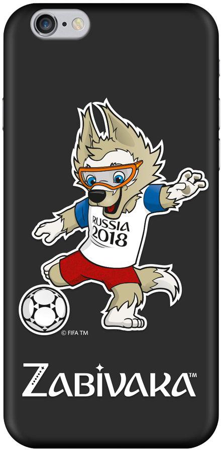 Клип-кейс Deppa FIFA для Apple iPhone 6/6S Zabivaka_2 (черный) клип кейс deppa fifa для apple iphone 8 7 official emblem черный