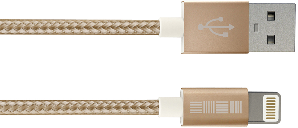 Кабель InterStep USB-8pin MFI нейлон 1м  кабель interstep usb apple 8pin mfi 1м