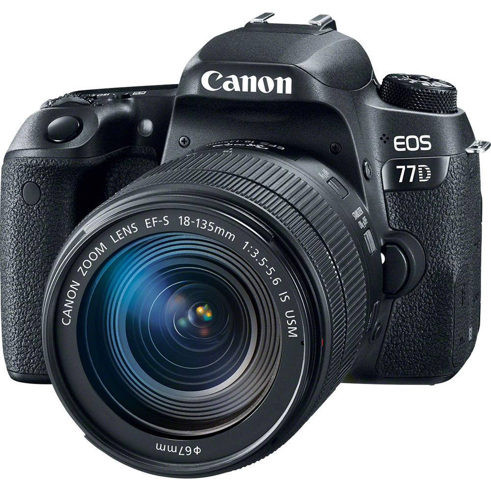 Canon EOS 77D 18-135 mm IS USM (черный)