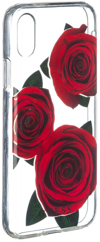 Клип-кейс Guess Flower Desire для Apple iPhone X Rose Dark (прозрачный) guess sc49 13670 rose