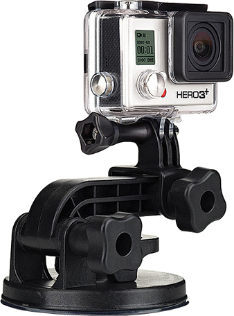 Крепление GoPro Suction Cup Mount AUCMT-302 cnc machining aluminum alloy extension arm for gopro hero3 hero2