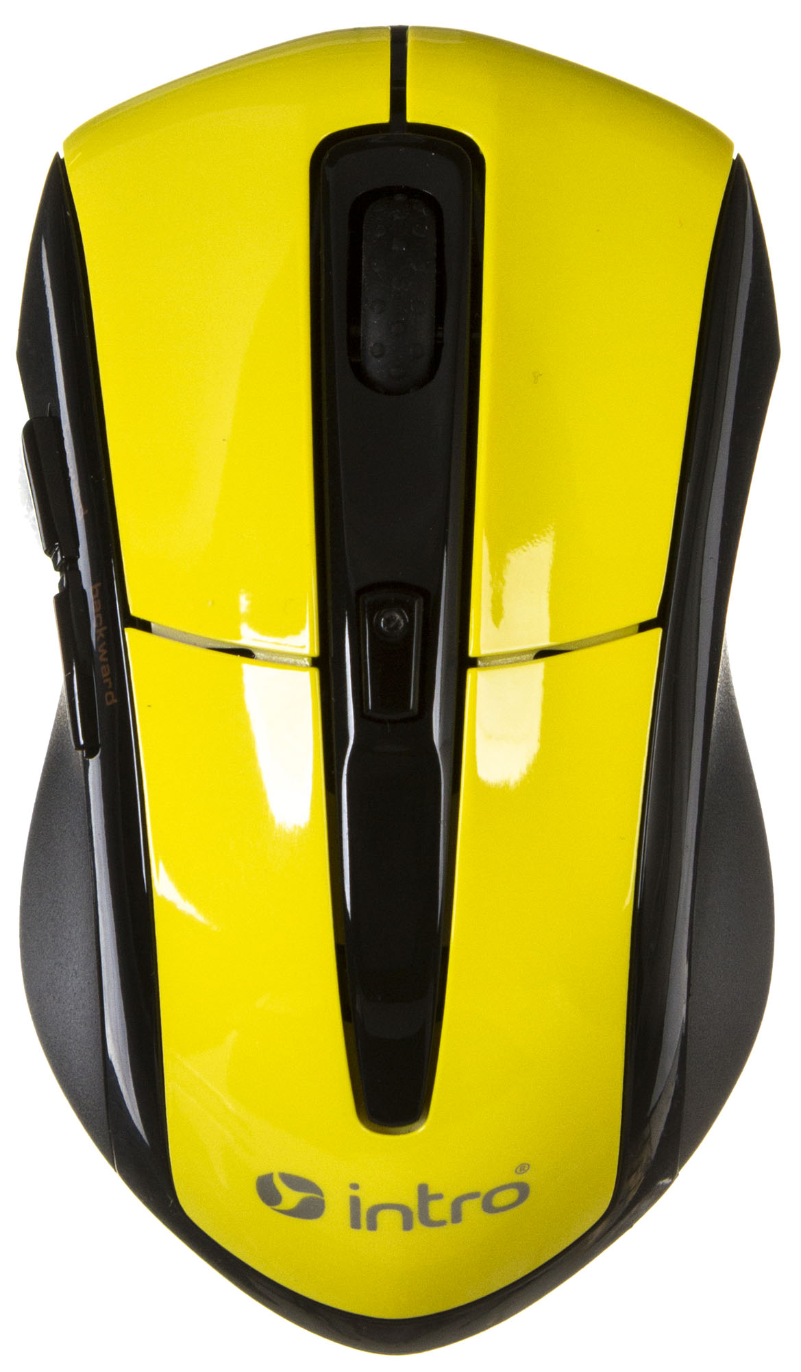 Купить Мышь Intro MW207 mouse Wireless Black-Yellow USB (желтый)
