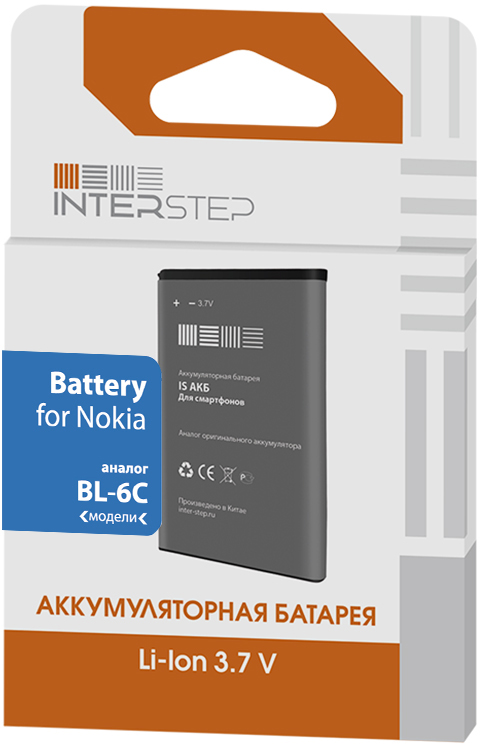 Аккумулятор InterStep для Nokia 110/111/112/113 все цены