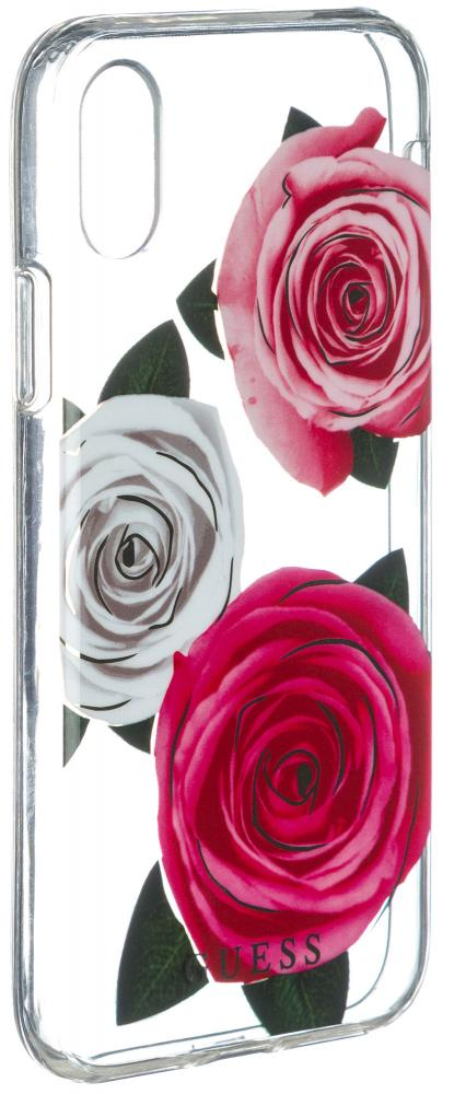 Клип-кейс Guess Flower Desire для Apple iPhone X Rose Light (прозрачный) guess sc49 13670 rose