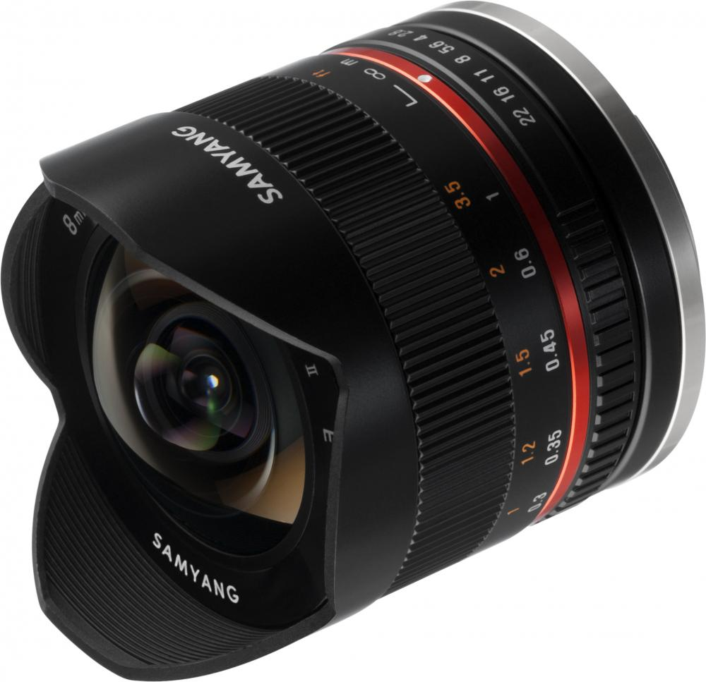 Объектив Samyang MF 8mm f/2.8 AS IF UMC Fish-eye II Sony E (черный) объектив samyang sony e nex mf 14 mm t3 1 ed as if umc vdslr
