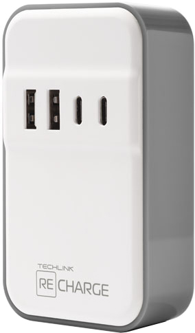 Techlink WallCharger 2 USB и 2 USB type C