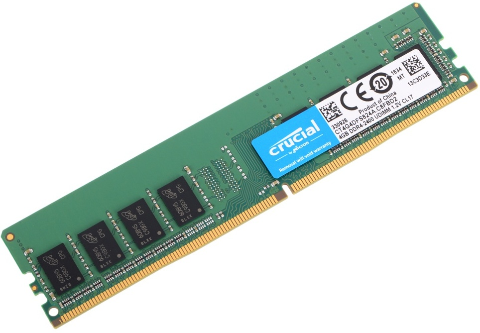 Crucial DDR 4 4Gb 2400Mhz crucial technology bls8g3d1609ds1s00