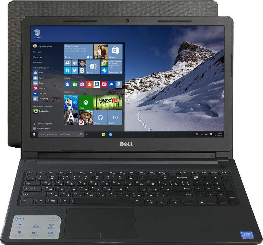Ноутбук Dell Vostro 3568-7568 (Intel Core i3 6006U 2000 Mhz/15.6/1366x768/4096Mb/1000Gb HDD/DVD-RW/AMD Radeon R5 M420X/WIFI/Windows 10 Home) ноутбук dell vostro 3568 3568 8074