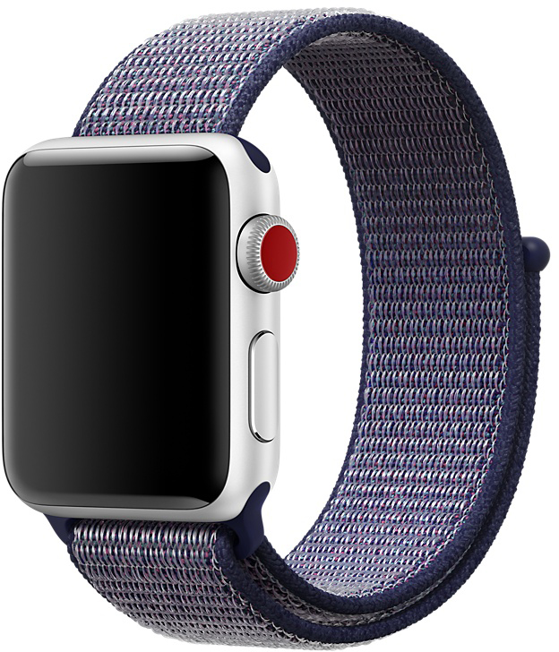 Ремешок Apple Sport Loop для Watch 38 мм (темно-синий) genuine leather loop watchband for apple watch leather loop band with magnetic closure for iwatch milanese loop