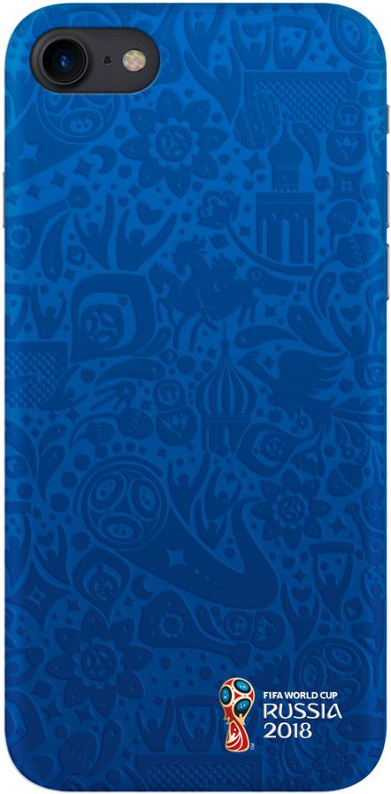 Клип-кейс Deppa FIFA для Apple iPhone 8/7 Official Pattern (синий) клип кейс deppa fifa для apple iphone 8 7 zabivaka 2 черный