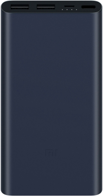 Портативное зарядное устройство Xiaomi Mi Power Bank 2S 10000 мАч (черный) portable universal dual usb 5v 6000mah li ion battery power bank w flashlight white offwhite
