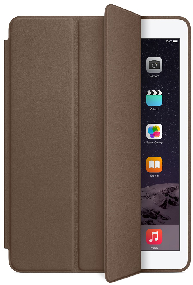 Чехол-книжка Apple Smart Case для iPad Air 2 (коричневый) tablet case for ipad mini 1 2 3 smart pu leather sleeve case soft tpu shining folio stand cover auto sleep