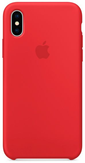 Клип-кейс Apple Silicone Case для iPhone X (красный) matte protective pe back case for htc one x s720e red