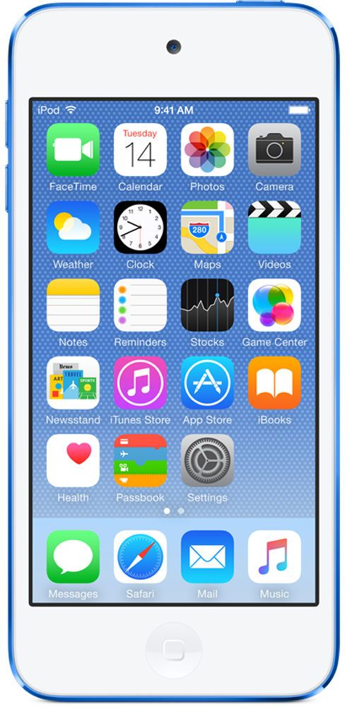 Плеер Apple iPod touch 128Gb MKWP2RU/A (синий)