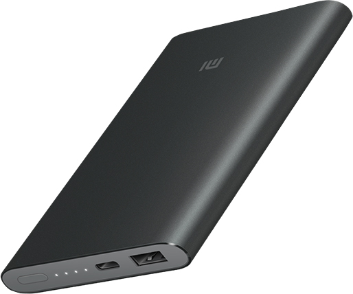 Портативное зарядное устройство Xiaomi Mi Power Bank-2 10000 мАч (черный) portable universal dual usb 5v 6000mah li ion battery power bank w flashlight white offwhite