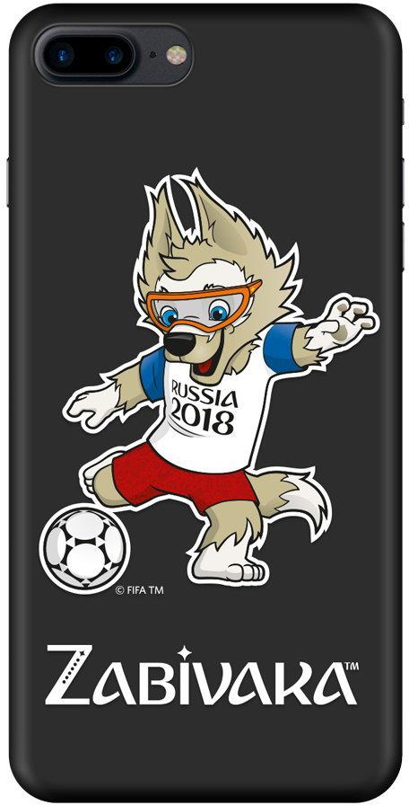 Клип-кейс Deppa FIFA для Apple iPhone 8 Plus/7 Plus Zabivaka_2 (черный) клип кейс deppa fifa для apple iphone 8 7 zabivaka 2 черный