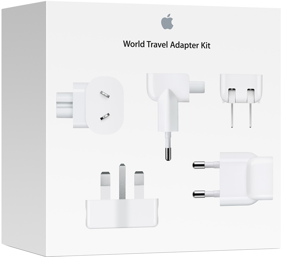 Apple World Travel Adapter Kit комплект адаптеров apple world travel adapter kit [md837zm a]