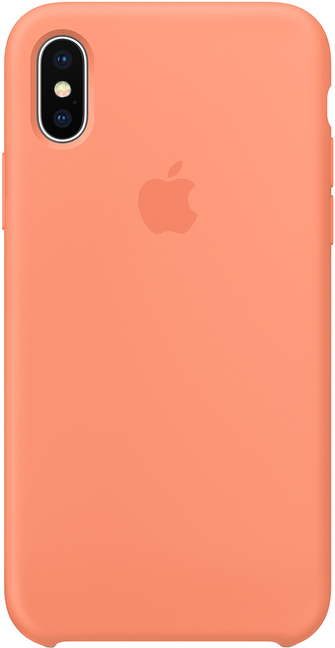 Клип-кейс Apple Silicone Case для iPhone X (сочный персик)