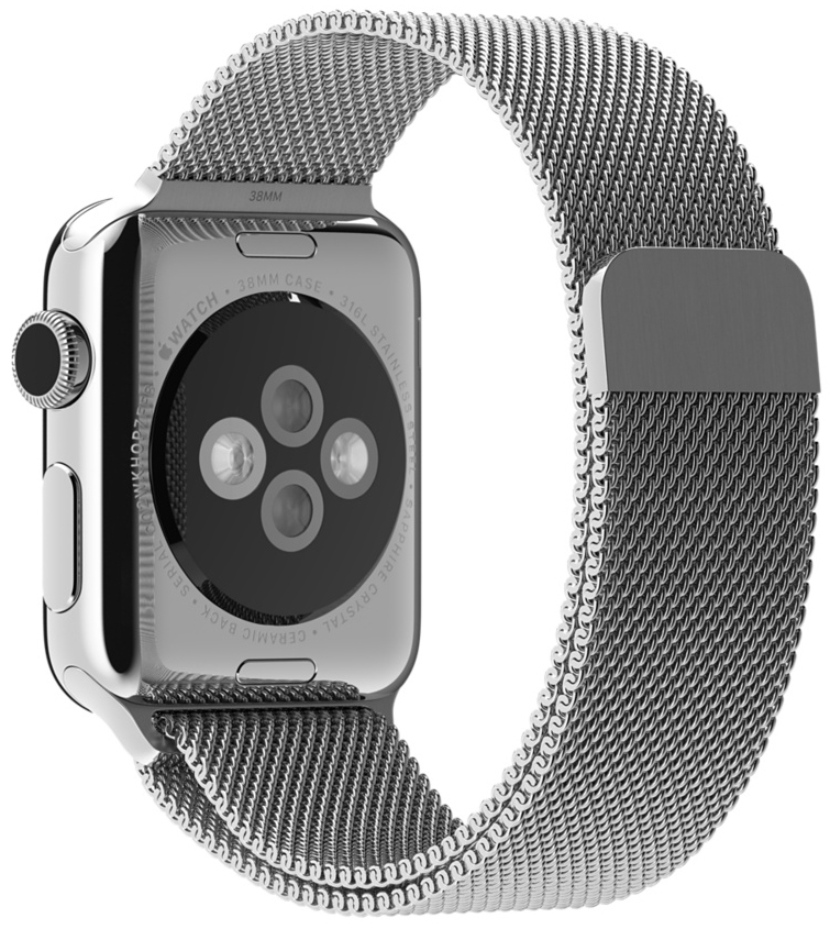 Ремешок Apple Milanese Loop для Apple Watch 38 мм (серебристый) genuine leather loop watchband for apple watch leather loop band with magnetic closure for iwatch milanese loop