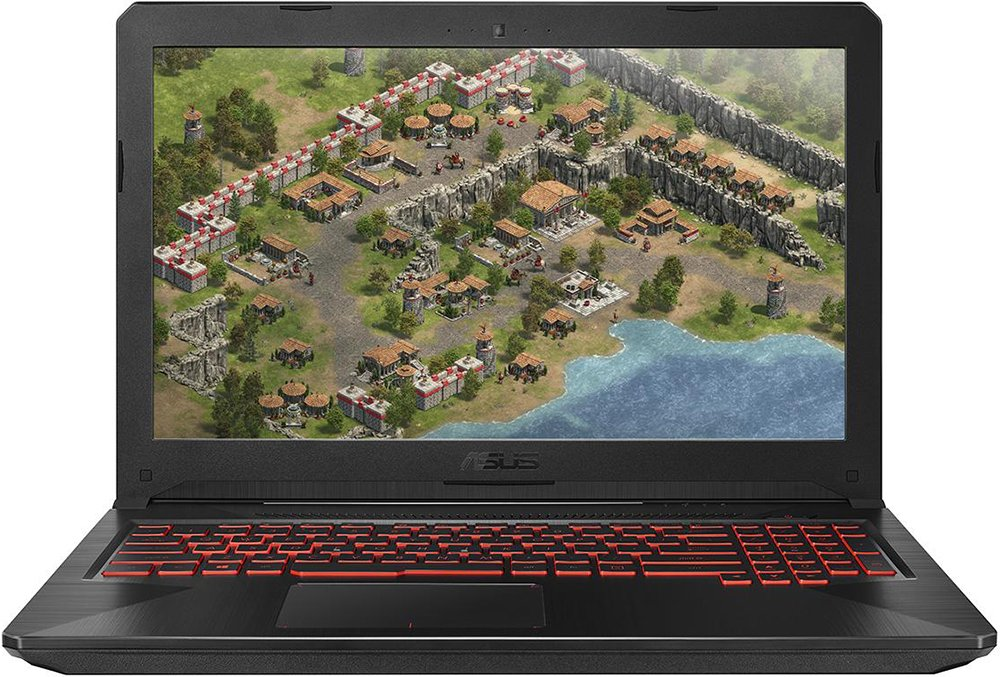 Ноутбук ASUS ROG FX504GD-E4403 (Intel Core i5 8300H 2300 Mhz/15.6/1920х1080/12288Mb/1000Gb HDD/DVD нет/NVIDIA GeForce GTX 1050/WIFI/Endless OS)
