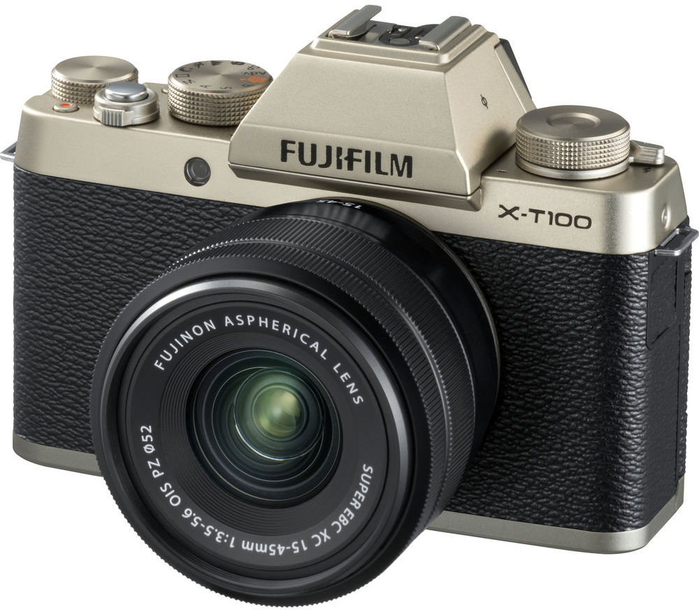 Фото - Fujifilm X-T100 Kit 15-45mm (золотистый) meike new batterry grip mk xt2g for fujifilm x t2