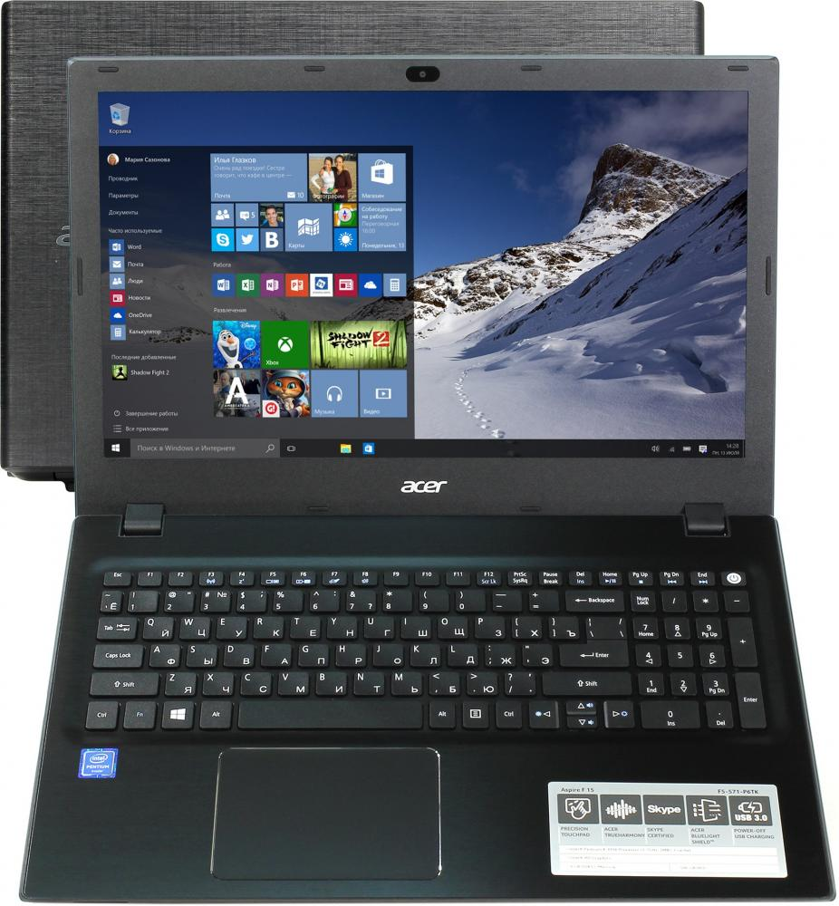"Ноутбук Acer Aspire F5-571-P6TK (Intel Pentium 3556U 1700 Mhz/15.6""/1366x768/4096Mb/500Gb HDD/DVD нет/Intel® HD Graphics/WIFI/Windows 10 Home)"