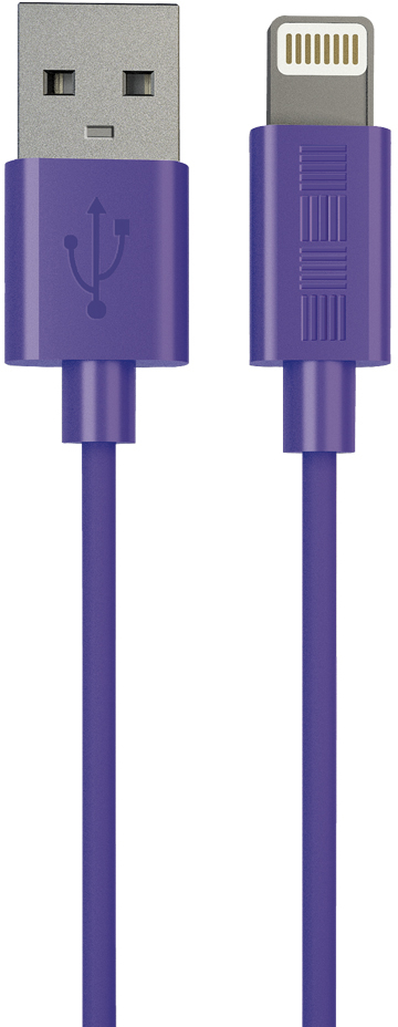Кабель InterStep USB-Apple 8pin MFI 1м (фиолетовый) кабель interstep usb 8pin mfi 1м серебристый