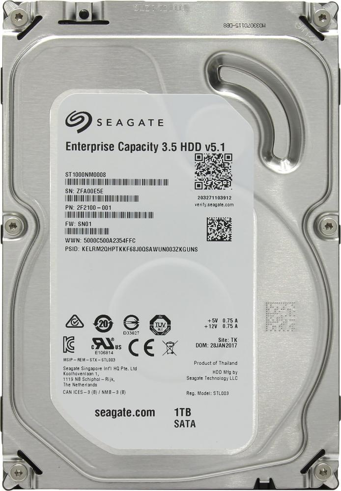 Seagate Enterprise Capacity 1Tb 3.5 модуль памяти so dimm ddr4 4gb pc17000 2133mhz kingston kvr21s15s8 4