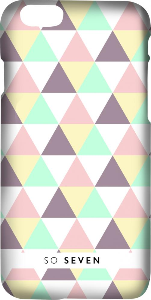 Клип-кейс So Seven Graphic Pastel принт Triangle для Apple iPhone 7/8 ( рисунком)