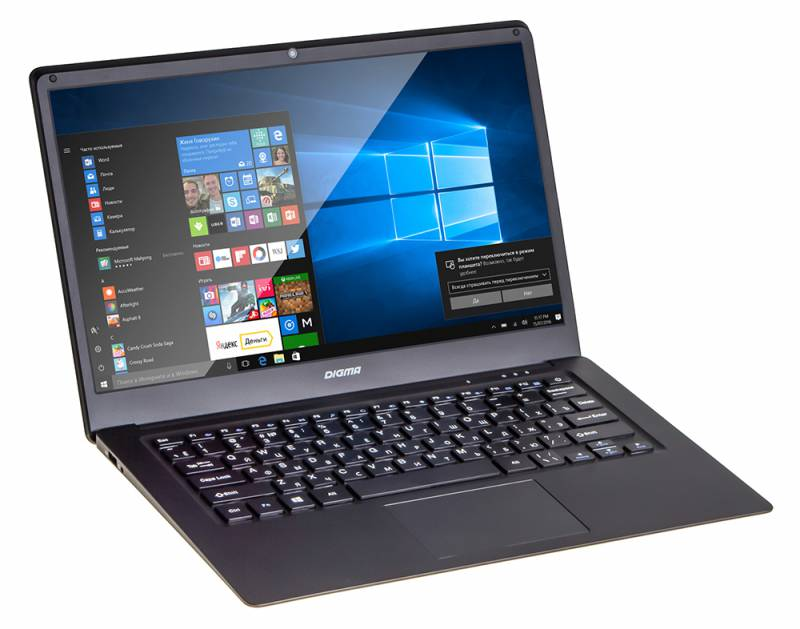 Ноутбук Digma CITI E400 (Intel Atom X5-Z8350 1440 Mhz/14.1/1920х1080/4096Mb/32Gb HDD/DVD нет/Intel® HD Graphics 400/WIFI/Windows 10 Home) ноутбук digma citi e202 atom x5 z8350 11 6 4 32 dvd нет intel hd graphics 400 win 10home multi language 64 чёрный
