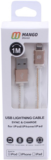 Кабель MANGO Device IP5CO1L USB-Apple 8pin 1м MFI