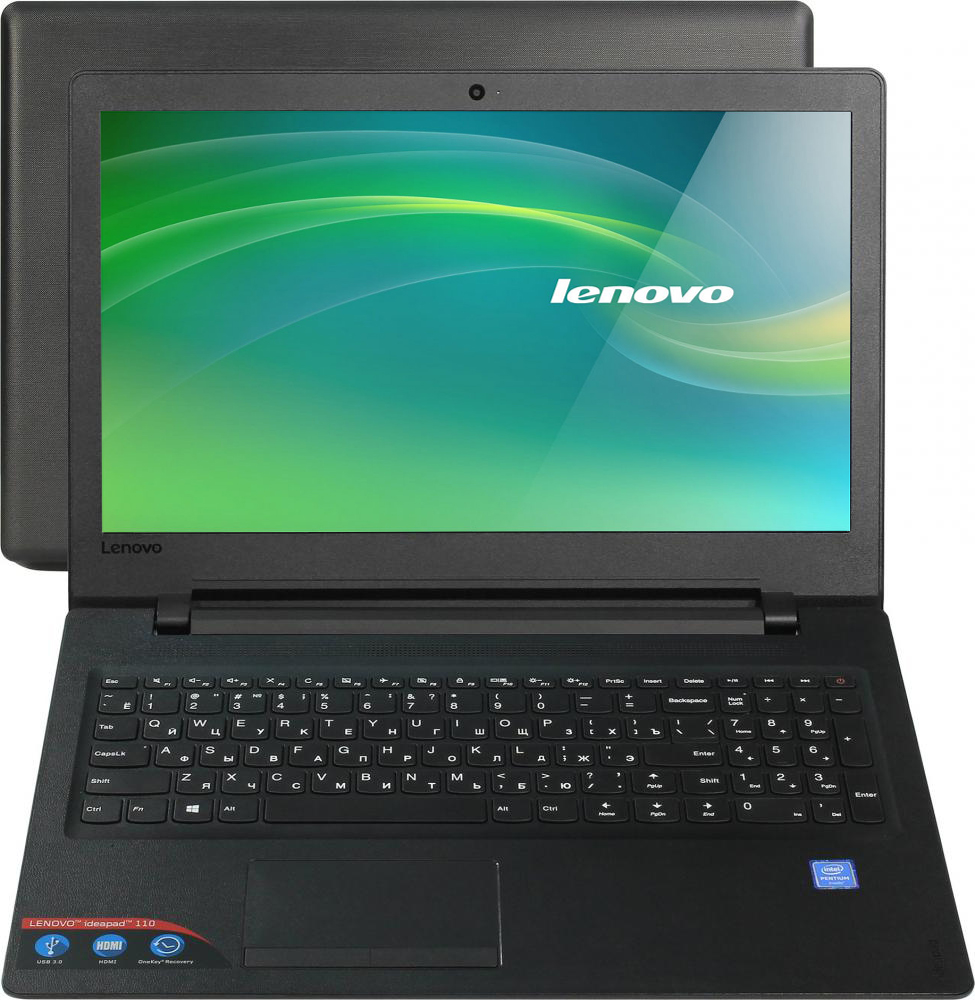 "Ноутбук Lenovo IdeaPad 110-15IBR 80T7003VRK (черный) IdeaPad 110-15IBR 80T7003VRK (Intel Pentium N3710 1600 Mhz/15.6""/1366x768/4096Mb/500Gb HDD/DVD-RW/Intel® HD Graphics 405/WIFI/DOS (без ОС))"