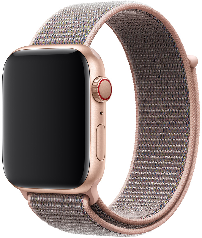 Ремешок Apple Sport Nylon Band для Watch 44 мм (розовый песок) cute stylish pu band women watch