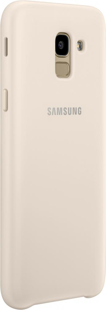 Клип-кейс Samsung Dual Layer EF-PJ600 для Galaxy J6 (золотистый) чехол для samsung galaxy j6 2018 samsung dual layer cover ef pj600cbegru black