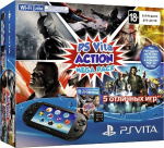 ����������� ������� ��������� Sony PlayStation Vita 2000 + Mega Pack Action + ����� ������ 8�� (������)