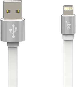 Кабель PQI -Cable Metallic Apple 8pin 1м (белый)